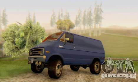 Dodge Tradesman Van 1976 для GTA San Andreas вид снизу