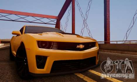 Chevrolet Camaro ZL1 2014 для GTA San Andreas вид справа