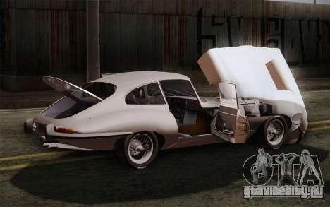Jaguar E-Type 4.2 для GTA San Andreas вид сверху