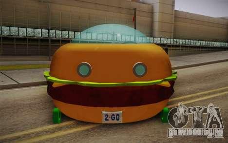 Spongebobs Burger Mobile для GTA San Andreas вид справа