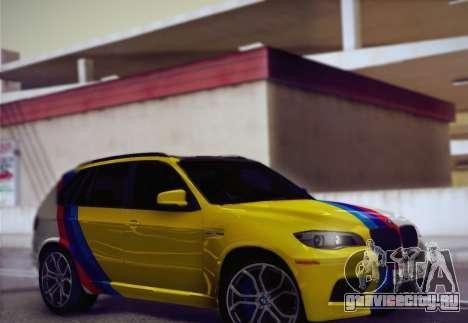 BMW X5M 2013 для GTA San Andreas вид сбоку