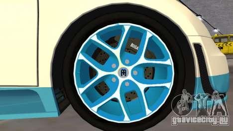 Bugatti Veyron Grand Sport Vitesse для GTA Vice City вид сзади