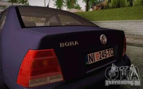 Volkswagen Bora для GTA San Andreas вид изнутри