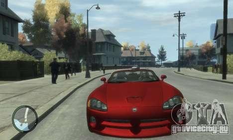 Dodge Viper SRT-10 2003 v2.0 для GTA 4 вид сзади