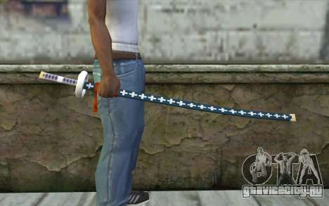 One Piece Sword Trafalgar Law для GTA San Andreas третий скриншот