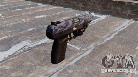 Пистолет FN Five-seveN LAM Blue Camo для GTA 4 второй скриншот