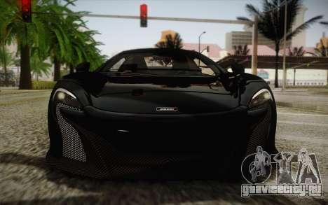 McLaren 650S Spider 2014 для GTA San Andreas вид сбоку