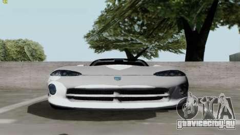 Dodge Viper RT-10 1992 для GTA San Andreas вид сзади слева