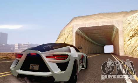Bertone Mantide 2010 Rock Generation для GTA San Andreas вид изнутри