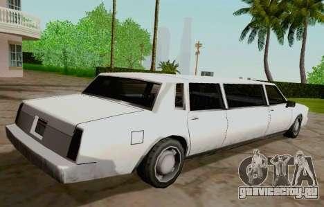 Tahoma Limousine для GTA San Andreas вид сзади слева