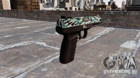 Пистолет FN Five-seveN Aqua Camo для GTA 4 второй скриншот