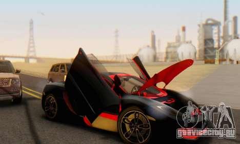 Mclaren MP4-12C Spider Sonic Blum для GTA San Andreas салон