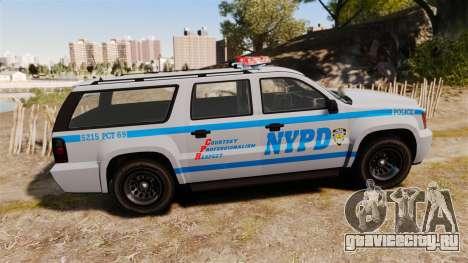 GTA V Declasse Granger NYPD для GTA 4 вид слева