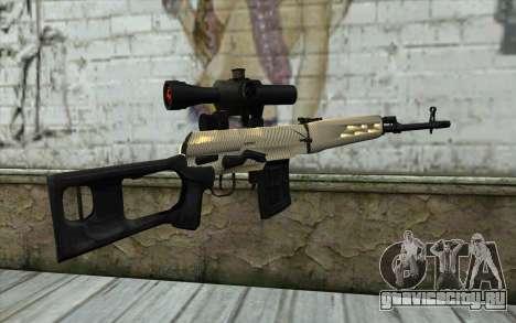 Снайперская Винтовка Драгунова для GTA San Andreas второй скриншот