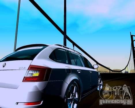 Škoda Octavia A7 Combi для GTA San Andreas вид справа