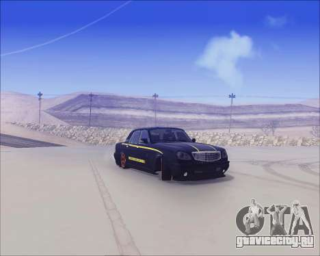 ГАЗ 31105 Tuneable для GTA San Andreas вид сзади слева