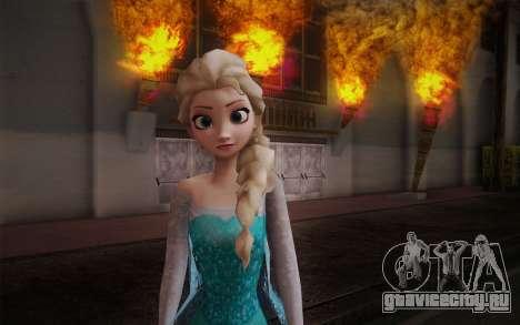 Frozen Elsa для GTA San Andreas третий скриншот