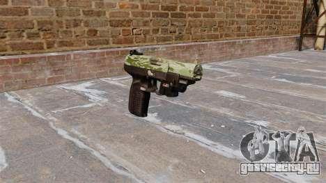 Пистолет FN Five-seveN LAM Green Camo для GTA 4