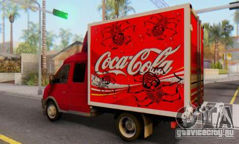 ГАЗель 33023 Coca-Cola для GTA San Andreas вид слева