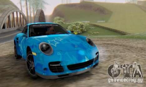 Porsche 911 Turbo Blue Star для GTA San Andreas