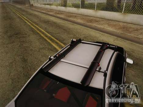 Subaru Impreza Hellaflush для GTA San Andreas вид сзади