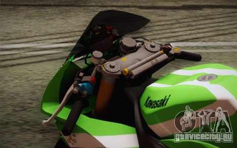 Kawasaki ZX-10R Ninja для GTA San Andreas вид сзади