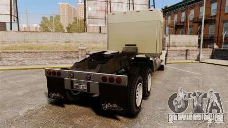 GTA V JoBuilt Phantom для GTA 4 вид сзади слева