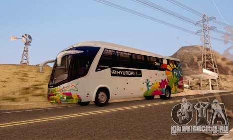 Marcopolo Paradiso 1200 Brazil Fifa World Cup для GTA San Andreas вид слева