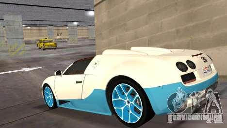 Bugatti Veyron Grand Sport Vitesse для GTA Vice City вид слева