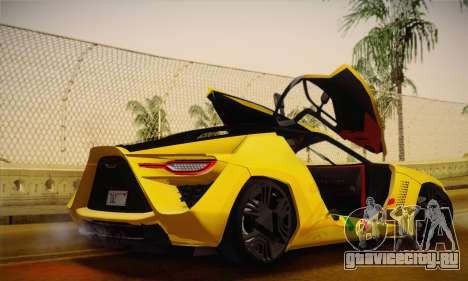Bertone Mantide World Brasil 2010 для GTA San Andreas вид изнутри