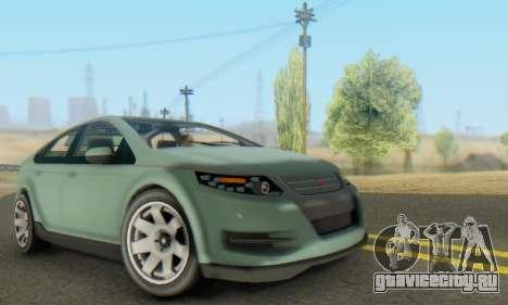 Cheval Surge V1.0 для GTA San Andreas вид изнутри