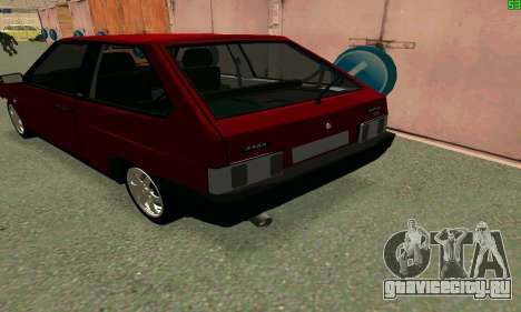 ВАЗ 2108 Turbo для GTA San Andreas вид сзади
