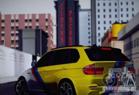 BMW X5M 2013 для GTA San Andreas салон