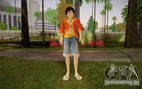 One Piece Monkey D Luffy для GTA San Andreas
