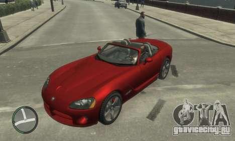 Dodge Viper SRT-10 2003 v2.0 для GTA 4 вид сверху