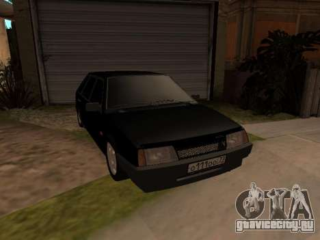 ВАЗ 2109 Бандитская девятка V 1.0 для GTA San Andreas вид изнутри