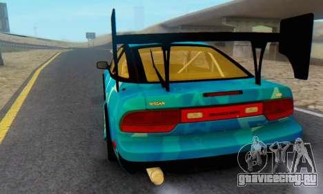 Nissan 240SX Blue Star для GTA San Andreas вид сзади