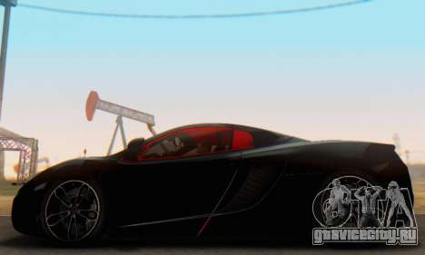 Mclaren MP4-12C Spider Sonic Blum для GTA San Andreas вид слева