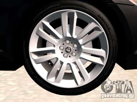 Jaguar XFR для GTA San Andreas вид изнутри