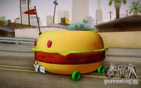 Spongebobs Burger Mobile для GTA San Andreas вид слева