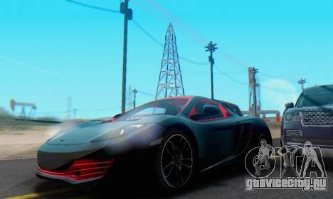 Mclaren MP4-12C Spider Sonic Blum для GTA San Andreas вид снизу