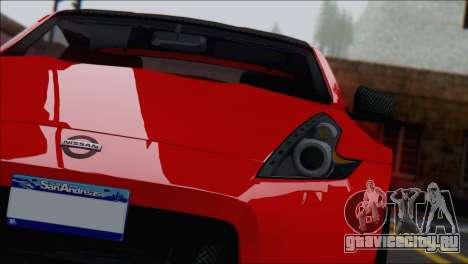 Nissan 370Z Vossen для GTA San Andreas вид справа