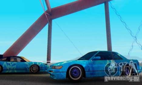 Nissan Silvia S13 Blue Star для GTA San Andreas вид слева