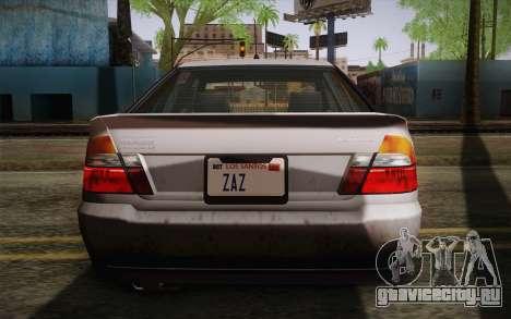 Sultan из GTA 5 для GTA San Andreas вид сбоку