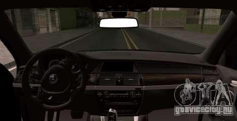 BMW X5M 2013 для GTA San Andreas вид сзади слева