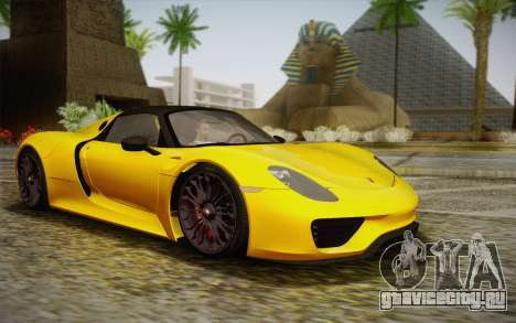 Porsche 918 2013 для GTA San Andreas
