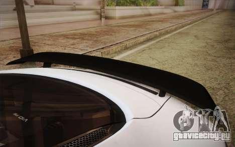 Audi R8 GT 2012 для GTA San Andreas вид сзади