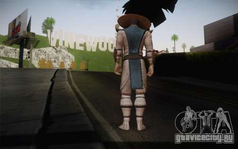 Raiden from Mortal Kombat 9 для GTA San Andreas второй скриншот