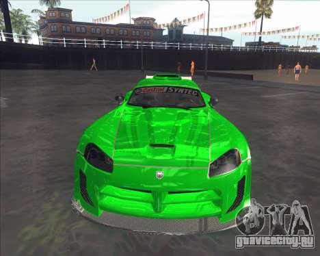 Dodge Viper SRT из NFS MW для GTA San Andreas вид слева