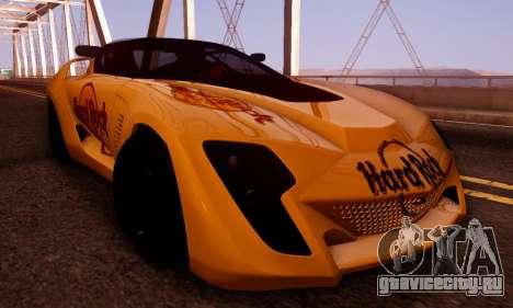 Bertone Mantide 2010 Hard Rock Cafe для GTA San Andreas вид сбоку
